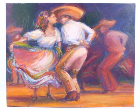 "Signed Jennifer Bowman Painting ""Ballet Folklore"""