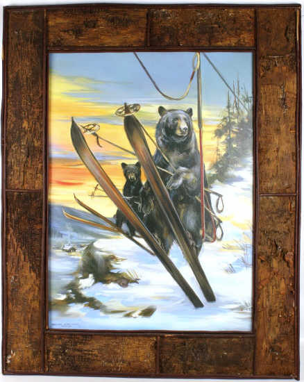"Marilynn Dwyer-Mason ""The Last Run"" Ski Bears Art"