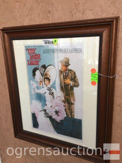 "Artwork - ""My Fair Lady"" Audrey Hepburn, Warner Bros. movie poster print, 19.5""wx22.5""h"