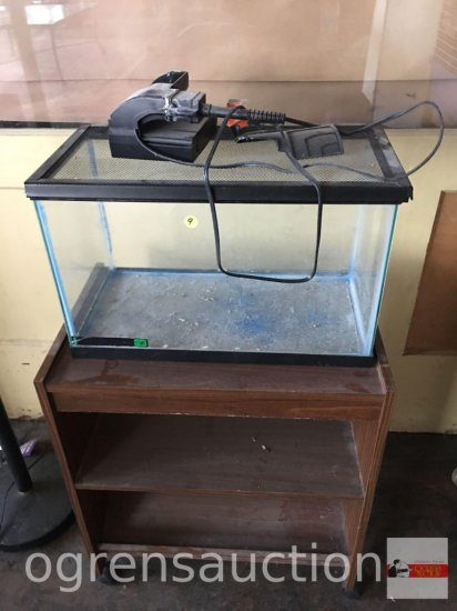 "Fish tank - 20.5""wx10.5""dx12.5""h on cart 22.75""wx14.75""dx26""h"