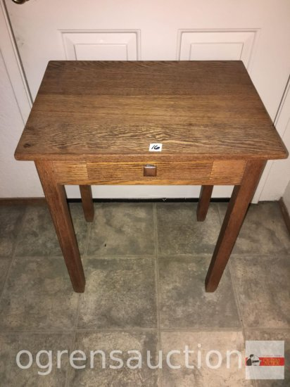 """Furniture - side table, 1 drawer, 24""""wx18""""dx28.5""""h"""