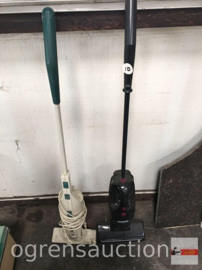 2 vacuums - Eureka, the Boss lite cordless and Bissell electric broom