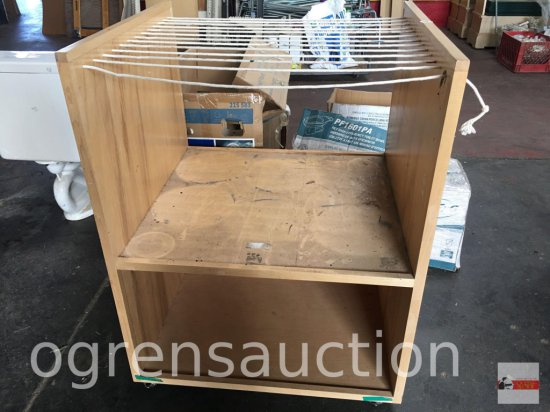 "Wheeled cart, drying rack, art rack etc., 28.5""wx31.5""wx41""h"