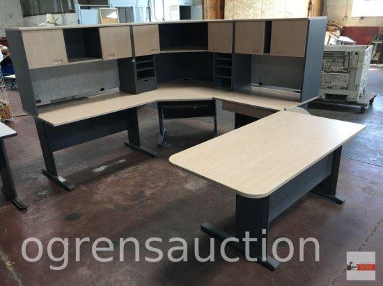 Office - 8 pc. modular desk unit