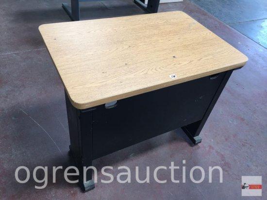 """Office - desk companion side table, 35.5""""wx23.5""""d"""