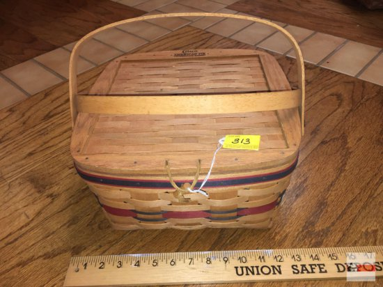 Longaberger Baskets - Handwoven, Dresden, Ohio, USA 1991 Crisco American Pie Celebration basket