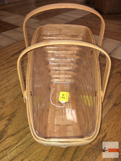 Longaberger Baskets - Handwoven, Dresden, Ohio, USA 1991, signed w/insert protector