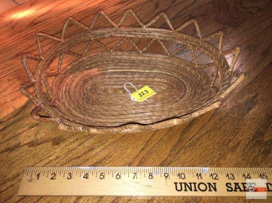 """Basket - woven, 14""""w"""