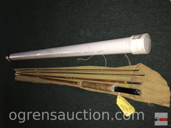 "Fishing - Fly Rod - Montague Rapidan, from Stu Lawson, #4TG1188, 8'5"" 4 pc. 3/2 split bamboo"
