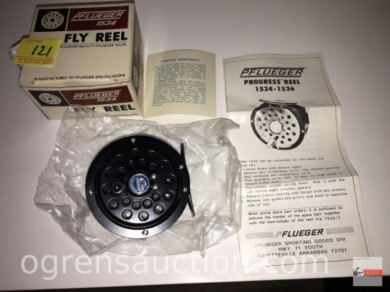 Fishing - Reels - Pflueger 1534 Progress Fly Reel, new old stock in box with paperwork