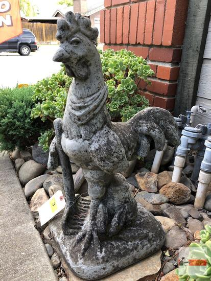 "Yard & Garden - Cement Chicken statue 24.5""hx12""w"