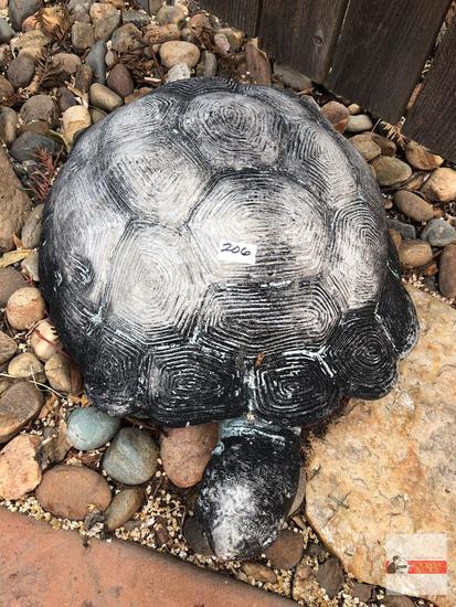 "Yard & Garden - cement turtle statuary, 18""wx13""wx8""h"