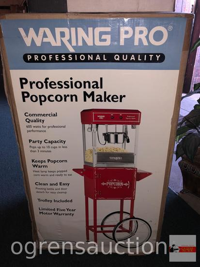 Waring Pro Professional Popcorn Maker Cart, unused in orig. box
