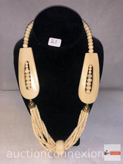 Jewelry - Necklace, lg. bone carved