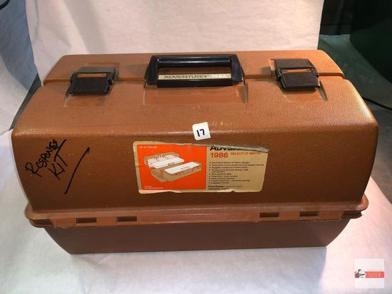 "Tackle Box - Flambeau Adventurer 1986 Select-o-matic, 6 inside compartments, 17.5""wx10.5""dx10.5""h"