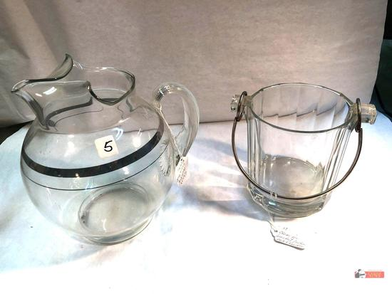 Glassware - 2 - Pitcher and ice bucket