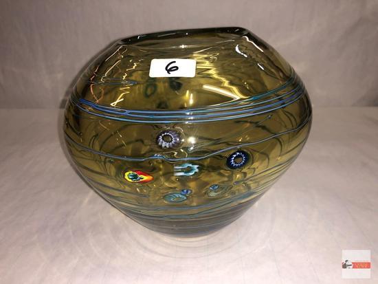 """Art Glass - vase - 6.5""""h"""