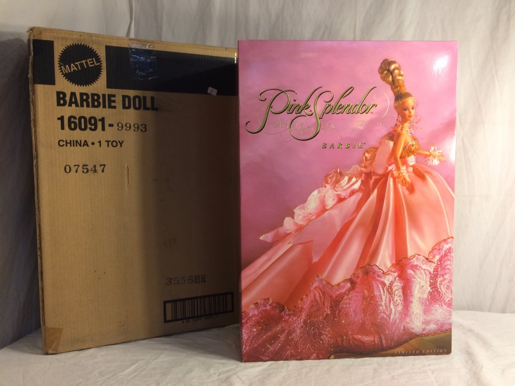 "Collector NIB Mattel Pink Splendor Barbie Doll Limited Edition Barbie Doll 23""Tall Box Size"