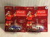Lot of 2 NIP Collector Johnny Lightning Coca Cola Holiday Ornaments Die Cast Cars 1:64 Scale