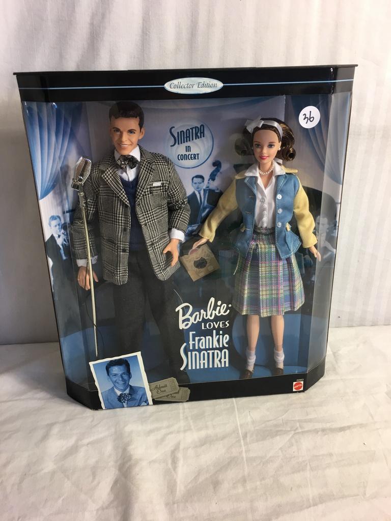 93e392581e336 Collector Edition Barbie Loves Frankie Sinatra Mattel Doll 22953 Box  Size 13.5