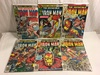 Lot of 6 Collector Vintage Marvel Comics The Invincible Iron Man No.103.104.106.109.119.120