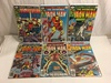 Lot of 6 Collector Vintage Marvel Comics The Invincible Iron Man No.121.122.123.125.126.127.