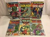 Lot of 6 Collector Vintage Marvel Comics The Invincible Iron Man No.129.130.131.132.133.135.