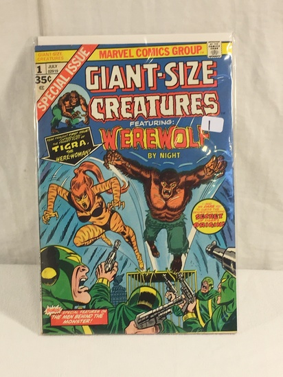 Collector Vintage Marvel Comics Giant-Siz Creatures Featuring Werewolf By Night No.1