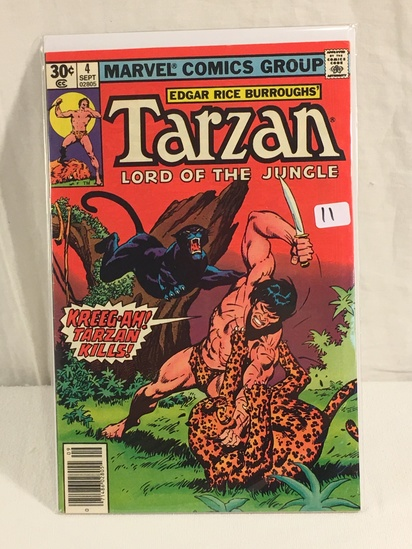 Collector Vintage Marvel Comics Tarzan Lord Of The Jungle No.4 Comic Book