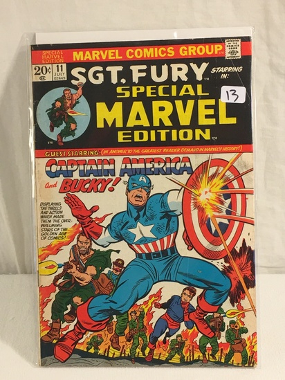 Collector Vintage Marvel Comics SGT. Fury Special Marvel Edition No.11 Comic Book