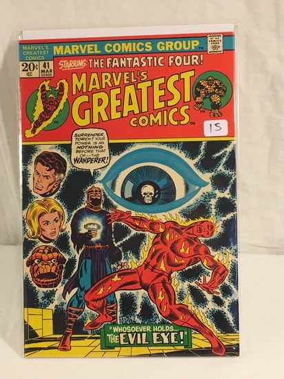 Collector Vintage Marvel Comics The Fantasti Four Marvel's Greatest Comics No.41