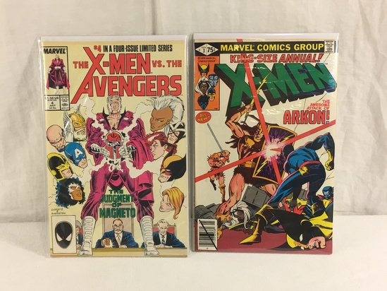 Lot of 2 Colletcor Vintage Marvel King-Size Annual X-Men & Avengers Comic Book No.3.4