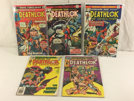 Lot of 5 Pcs Collector Vintage Marvel Comics Astonishing Tales Deathlok No.32.33.34.35.36.
