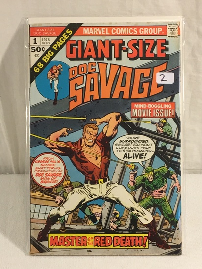 Collector Vintage Marvel Comics Giant-Size Doc Savage Comic Book No.1