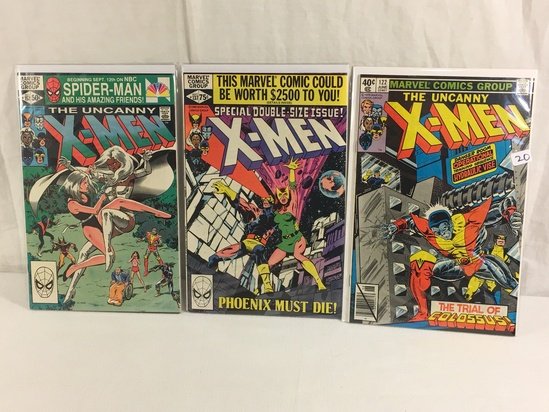 Lot of 3 Pcs Collector Vintage Marvel Comics The Uncanny X-Men Comic Books No.122.137.152.