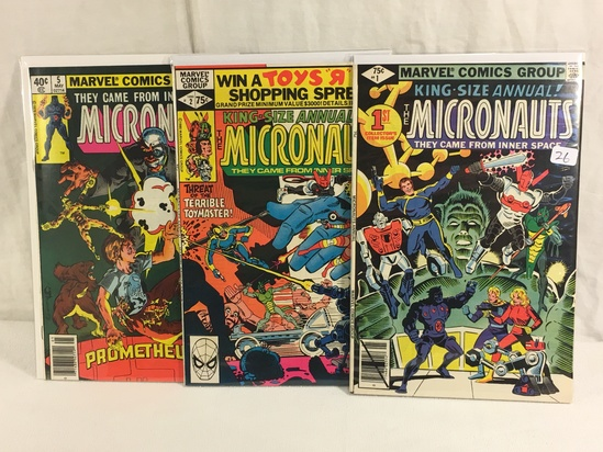 Lot of 3 Pcs Collector Vintage Comics The Micronauts Comic Books No.1.2.5.