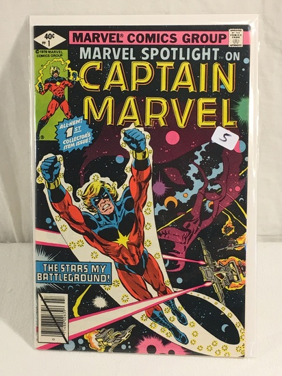 Collector Vintage Marvel Spotlight On Captain Marvel Comic Book No.1