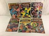 Lot of 6 Pcs Collector Vintage Marvel Comics Captain America Comic Books No.5.8.11.172.175.206.