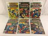Lot of 6 Pcs Collector Vintage Marvel Captain America Comic Books No.214.217.218.219.220.221.