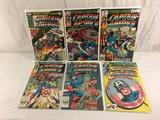 Lot of 6 Pcs Collector Vintage Marvel Captain America Comic Books No.233.234.235.250.267.268.