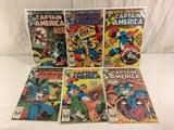 Lot of 6 Pcs Collector Vintage Marvel Captain America Comic Books No.275.276.277.278.279.280.