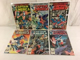 Lot of 6 Pcs Collector Vintage Marvel Captain America Comic Books No.281.282.283.284.286.287.