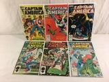 Lot of 6 Pcs Collector Vintage Marvel Captain America Comic Books No.296.297.299.300.301.302.