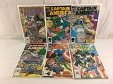 Lot of 6 Pcs Collector Vintage Marvel Captain America Comic Books No.309.310.311.312.313.314.