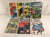 Lot of 7 Pcs Collector Vintage Marvel Captain America Comic Books No.329.330.331.333.334.354.355.