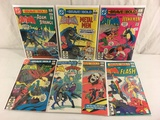 Lot of 7 Collector Vintage DC, The Brave and The Bold Comic Books No.185.186.187.190.192.193.194.