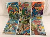 Lot of 6 Collector Vintage DC, Comics Superman's Action Comic Books No.532.536.477.483.525.526.