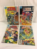 Lot of 4 Pcs Collector Vintage DC, All-Star Squadron Comic Books No.16.17.18.22.