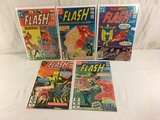Lot of 5 Pcs Collector Vintage DC, The Flash Comic Books No.306.307.308.309.310.