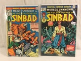 Lot of 2 Pcs Collector Vtg Comic  Worlds Unknown The Golden Voyage Of Sinbad No.7.25.